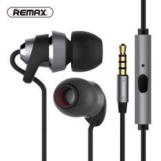 Remax RM-585 HD Metal Music In-Ear Earphone with Microphone - Hitam