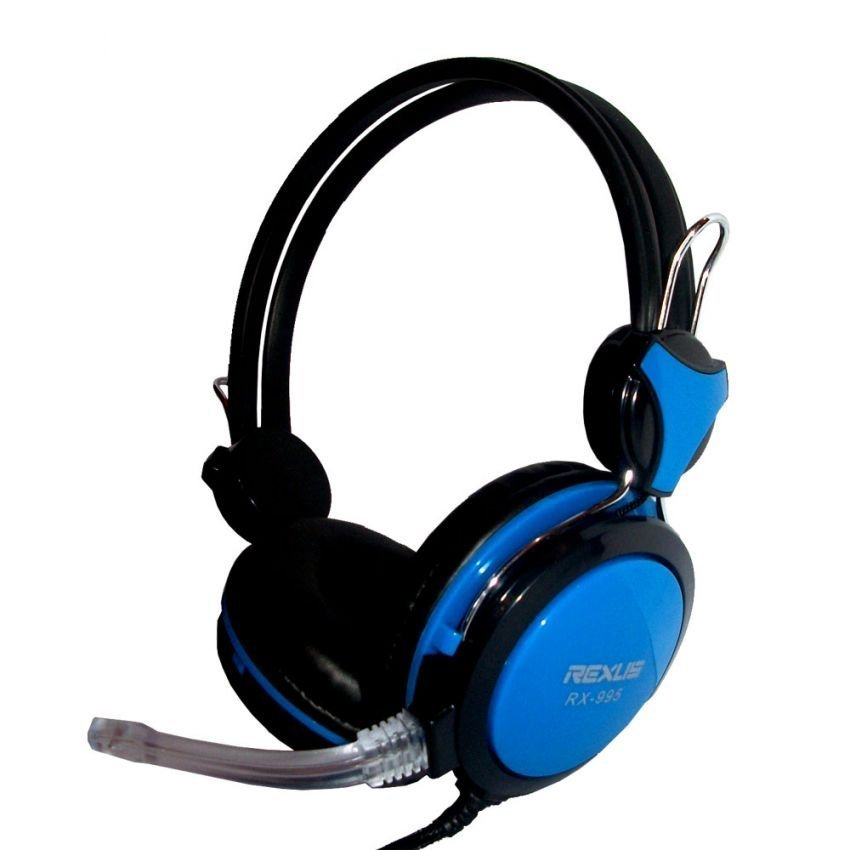 Rexus Headset Gaming RX-995 Plus MIC Peralatan Audio Video Headphone Gaming Main Team Online Multiplayer Game RPG MMORPG Real Time Strategy Battle Net Play First Person Shooter Komputer Gamers LAN Control Volume Microphone Lebih Mudah Asyik Seru Suara Men