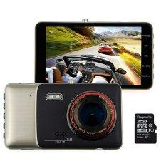 RHK 4.0 2 K FHD LCD 1080 P Mobil Kendaraan Kamera DVR Perekam Video DashCam Night Vision G-sensor dengan Gratis 32 GB Micro Kartu-Intl