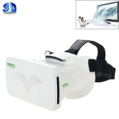 Ritech Riem 3 Universal Virtual Reality 3d Video Kacamata untuk 3.5 Sampai 6 Inch smartphone (putih)-Intl