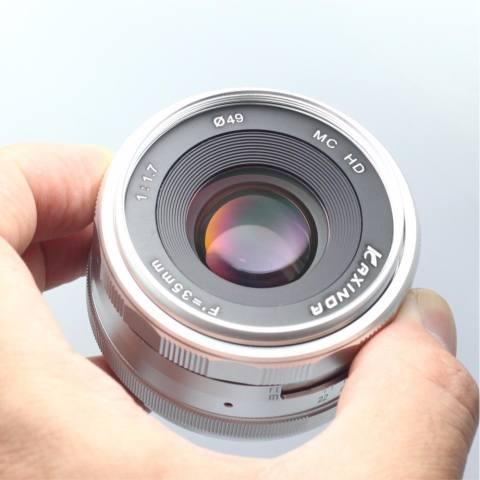 Roolad Kaxinda 35 Mm F/1.7 Bukaan Apertur Manual Fokus Lensa untuk Olympus M43 Panasonic Xiaoyi Digital Mirrorless Kamera em EP PL GX Hitam Perak-Internasional 4