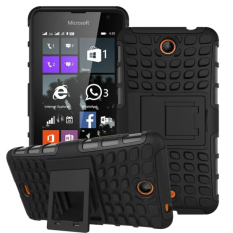 RUGGED ARMOR Microsoft Nokia Lumia 430 Case Shockproof Casing Cover Softcase Dual Layer Hardcase Stand Mode