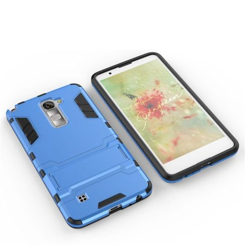 RUILEAN Hybrid Armor Dual Layer TPU + PC Shockproof Stand Case untuk LG Stylus 2/
