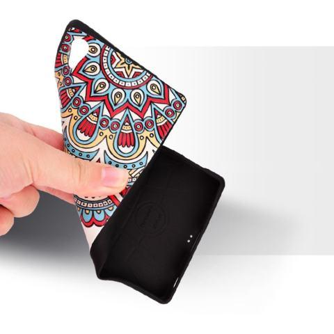 RUILEAN Soft TPU Case untuk Sony Xperia Z5 Premium Kulit Sapi 3D Lukisan Timbul Penutup Pelindung