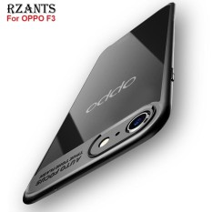 Rzants For F3 【Crystal Clear Back Casing 】Camera Protect Hybrid Protective Clear Ultra-thin light Soft Back Case For OPPO F3 - intl