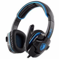 Sades Headset Gaming G-Power SA-708 with Microphone High Quality Aksesoris Audio Video - Hitam