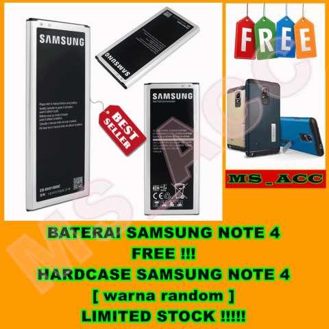 Samsung Baterai / Battery Galaxy Note 4 SM-N910H Original + Free Hardcase [ Warna Random ]
