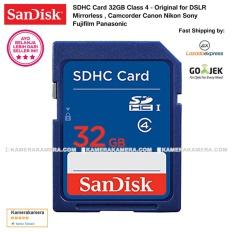 SanDisk SDHC Card 32GB Class 4 Original for DSLR Mirrorless , Camcorder Canon Nikon Sony Fujifilm Panasonic Samsung
