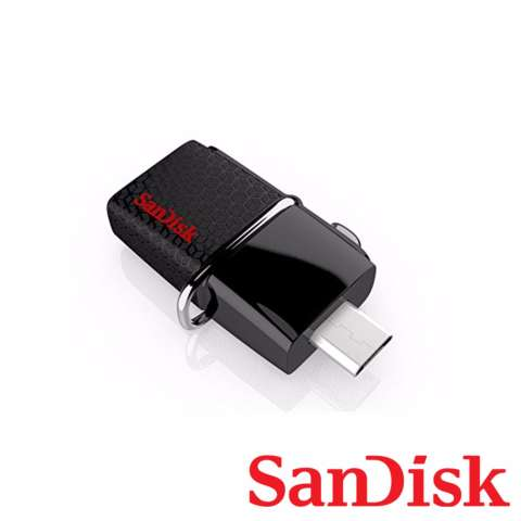 Sandisk Ultra Dual Drive OTG 128GB USB3 0 Hitam .