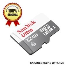 SanDisk Ultra Micro SD Memory Card HP/Smartphone/Camera 32GB 80MB/s Class 10 UHS - Original