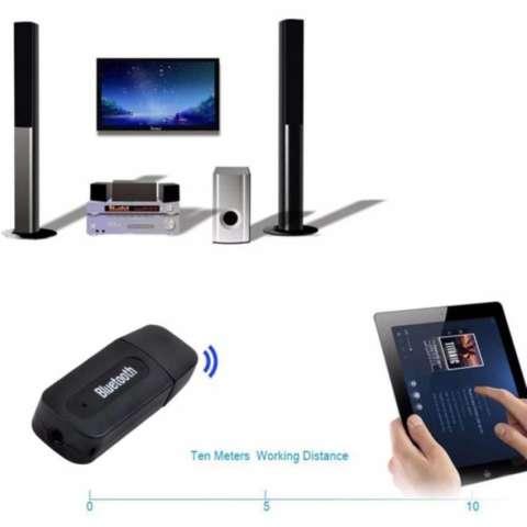 Sativa acc - Bluetooth Music Receiver USB Audio Dongle 3.5mm - Hitam BP008