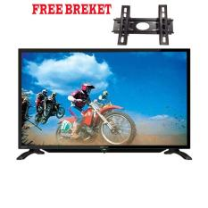 Sharp 32 inch LED HD USB TV - Hitam (Model LC-32LE180i) FREE BREKET