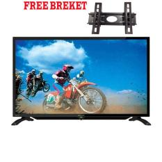 Sharp 40 inch LED HD TV - Hitam (Model LC-40LE185i)