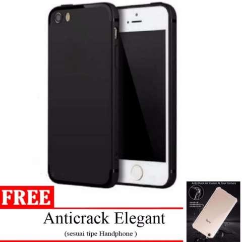 ... Anticrack Hard Case (Belakang Acrylic Keras - Pinggir Silicone Soft. Source · SLIM MATTE CASE BLACK DOVE FOR APPLE IPHONE 7 / 7S / 8 BLACK + GRATIS