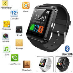 Smart Wrist Watch Mate Bluetooth untuk IPhone IOS Ponsel Android Samsung/HTC