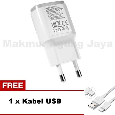 Smartfren Adapter Travel Charger + Free Cable Data Micro - Putih