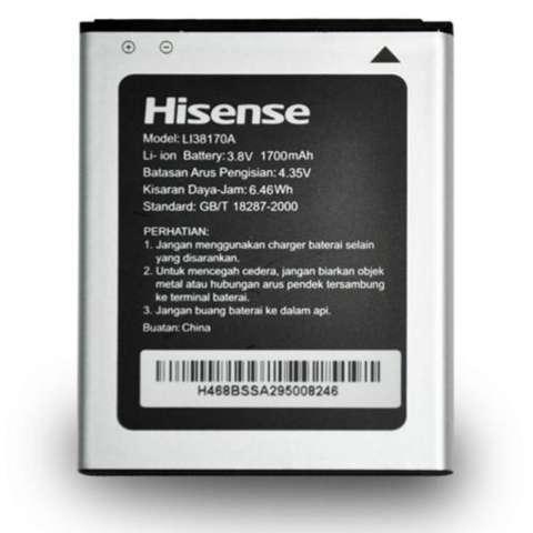 Smartfren Original Battery Hisense LI38170 Compotible Smartfren Andromax U2 - Silver