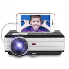Smartphone HD Projector Home Video-3500 Lumen LED LCD 1080p Game Projector 2017 Upgraded for iPhone iPad (USB Cable Only) 1280x800 Native HDMI Outdoor Entertainment Movie Proyector