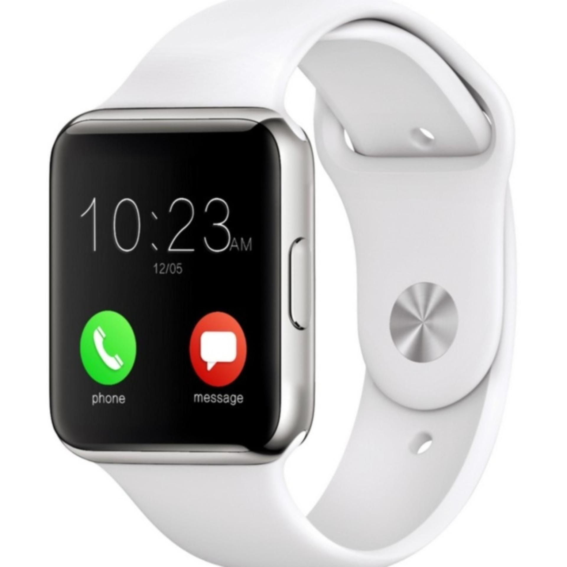 Smartwatch A1 With Camera Support SIM and Memory Card - PUTIH