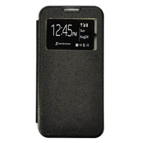 Home; Smile Flip Cover Case untuk Infinix Note 2 X600 - Hitam