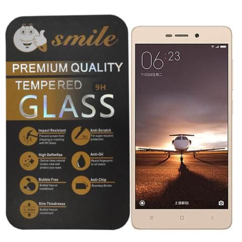 Home; Smile Tempered Glass Xiaomi Redmi 3 Pro - Clear - Anti Crash Film