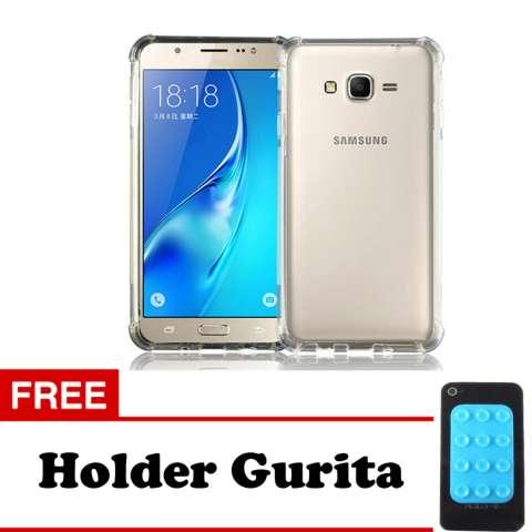 Softcase Anti Crack Anti Shock For Samsung Galaxy J2 Prime Aircase - Putih Transparant + Free