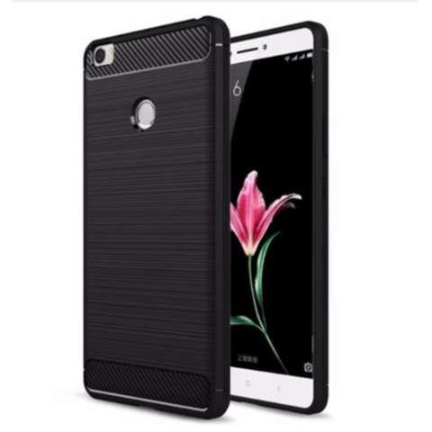 Softcase Carbon Fiber Anti-drop TPU Soft Phone Cases For Xiaomi Mi Max - Hitam
