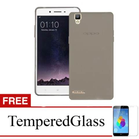 Softcase for Oppo Mirror 5 - Abu-abu + Gratis Tempered Glass - Ultra Thin