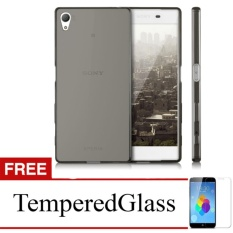 Softcase for Sony Xperia L / C2105 - Abu-abu + Gratis Tempered Glass - Ultra Thin