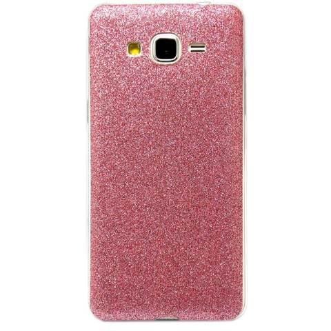 Softcase Glitter Series for Samsung Galaxy A3 - Merah Muda