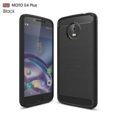 Softcase Ipaky Shockproof Matte Black karbon untuk Motorola E4 Plus Perlindung Sempurna - Hitam