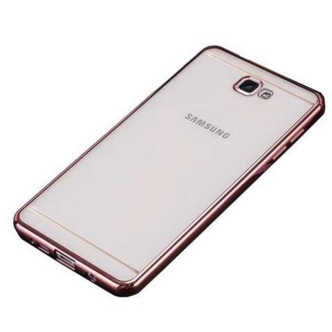 Softcase Silicon Jelly Case List Shining Chrome for Samsung Galaxy J7 Prime - Rose Gold