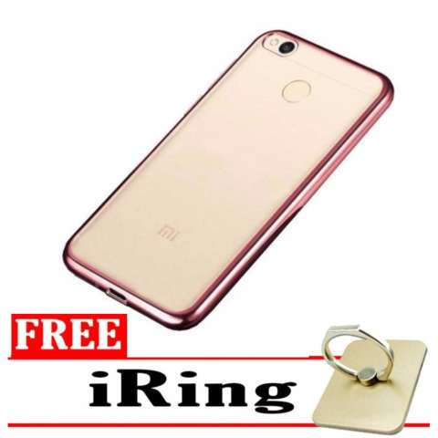 Beli Softcase Silicon Jelly Case List Shining Chrome For Xiaomi Redmi 4a Rose Gold Free Iring