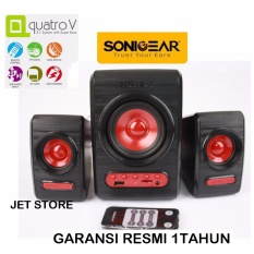 Sonicgear Quatro V Speaker 2.1 System with Super Bass - Merah