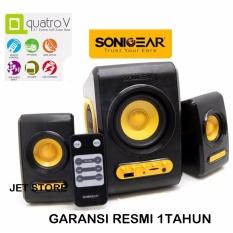 Sonicgear Quatro V Speaker 2.1 with Super Bass - Kuning