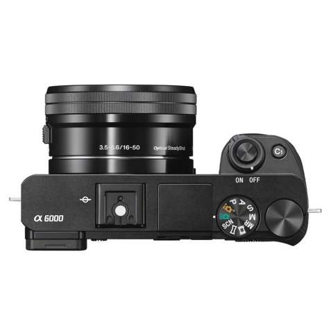 SONY Alpha 6000 Black with 16-50mm Lens Mirrorless Camera a6000 - WiFi 24.3MP Full HD (Garansi 1th) + SanDisk 16gb + Screen Guard + Filter 40.5mm + Camera Bag + Takara ECO-193A 3
