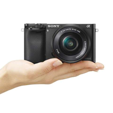 SONY Alpha 6000 Black with 16-50mm Lens Mirrorless Camera a6000 - WiFi 24.3MP Full HD (Garansi 1th) + SanDisk 16gb + Screen Guard + Filter 40.5mm + Camera Bag + Takara ECO-193A 5