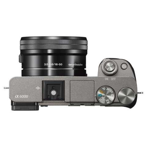 SONY Alpha 6000 Gray with 16-50mm Lens Mirrorless Camera a6000 - WiFi 24.3MP Full HD (Garansi 1th) + SanDisk 16gb + Screen Guard + Filter 40.5mm + Camera Bag + Takara ECO-193A 6