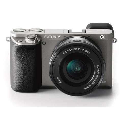 SONY Alpha 6000 Gray with 16-50mm Lens Mirrorless Camera a6000 - WiFi 24.3MP Full HD (Garansi 1th) + SanDisk 16gb + Screen Guard + Filter 40.5mm + Camera Bag + Takara ECO-193A 2