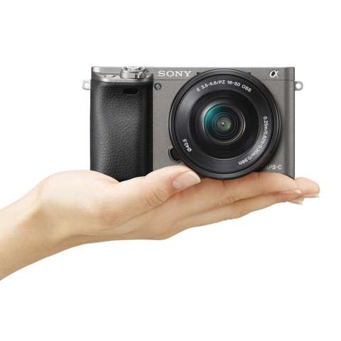 SONY Alpha 6000 Gray with 16-50mm Lens Mirrorless Camera a6000 - WiFi 24.3MP Full HD (Garansi 1th) + SanDisk 16gb + Screen Guard + Filter 40.5mm + Camera Bag + Takara ECO-193A 1