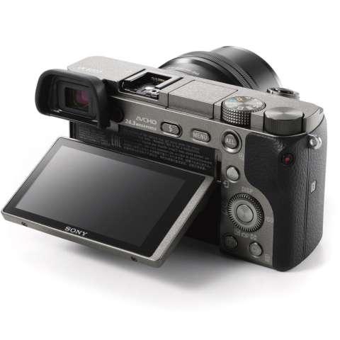 SONY Alpha 6000 Gray with 16-50mm Lens Mirrorless Camera a6000 - WiFi 24.3MP Full HD (Garansi 1th) + SanDisk 16gb + Screen Guard + Filter 40.5mm + Camera Bag + Takara ECO-193A 3