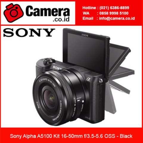 Sony Alpha A5100 Kit 16-50mm - Black +FREE 8GB - Kamera Mirrorless 2
