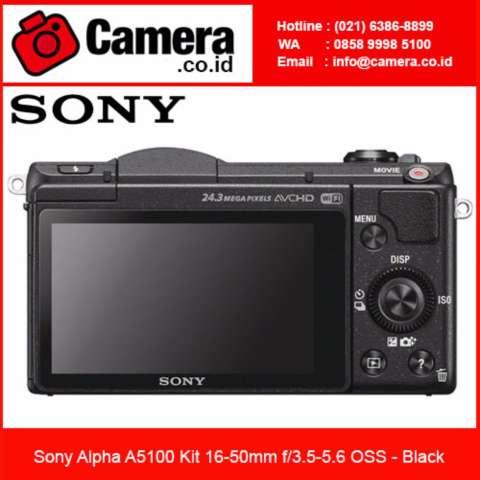 Sony Alpha A5100 Kit 16-50mm - Black +FREE 8GB - Kamera Mirrorless 1