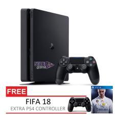 SONY Playstation 4 Slim 500GB Garansi SONY CUH-2006A Extra Controller + FIFA 18