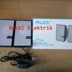 Speaker Aktif Mini AUDI S734 Support untuk DVD,HP,LAPTOP Dan Elektronik Lainnya - Harga Murah