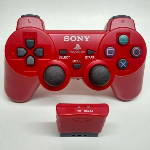 Stick PlayStation 2 Wireless PS2 Controller RED