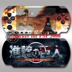 Sticker skin pain decal cover for PlayStation Portable PSP 3000 Handheld game console anime Attack on Titan - intl