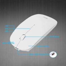 Optik Mouse Nirkabel 2, 4g Penerima Ultra Tipis For Komputer PC (hitam)-