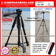 TAKARA ECO-196A Photo / Video Professional Tripod ECO 196A - Max Height 1450mm Free