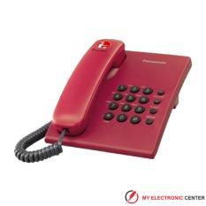 Telepon Kabel Panasonic KX-TS505 Single Line RED / Telepon Kabel Rumah Kantor
